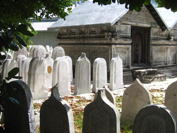 Gravstenar på Maldiverna