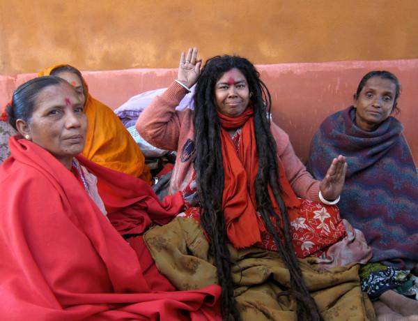 Kvinnlig Sadhu i Varanasi Foto Elin Thorsén