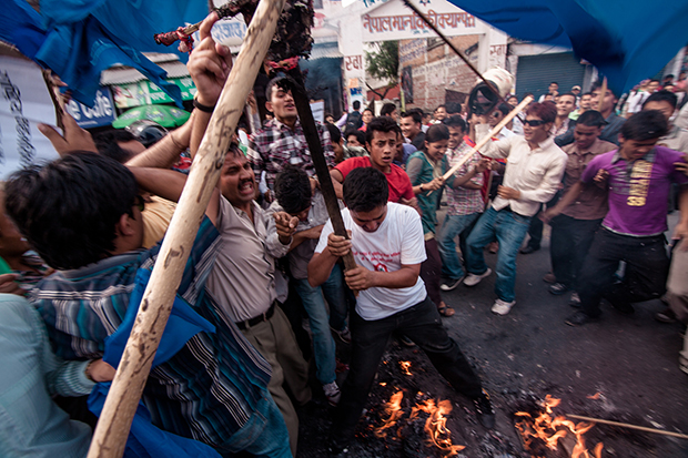 Premiarministern i nepal avgick