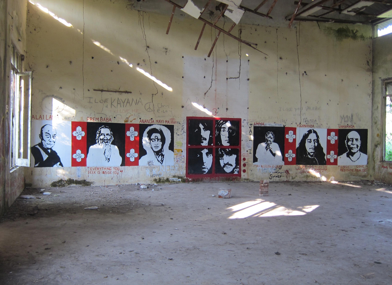 Guru grafitti i Rishikesh ©Elin Thorsén