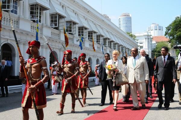 Utrikesminister Margot Wallström besökte Sri Lanka i april och träffade där bland andra utrikesministerkollegan Mangala Samaraweera. Foto: Sri Lanka Ministry of Foreign Affairs