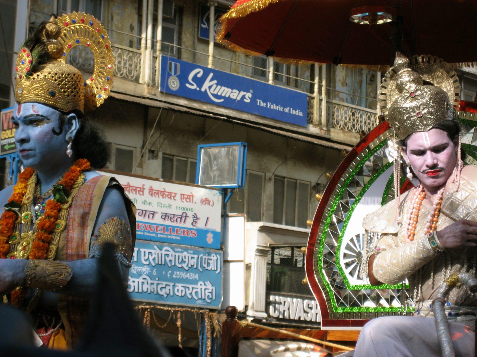 Krishna och Arjuna – scen ur verket Bhagavadgita