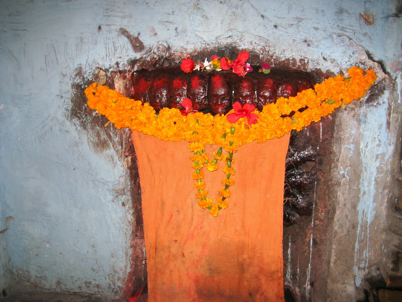 Gudom i ett tempel utanför Varanasi