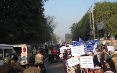 3 december 2014, demonstration i Katmandu för att uppmärksamma International Day of Persons with Disabilities. Foto Henrik Schedin.