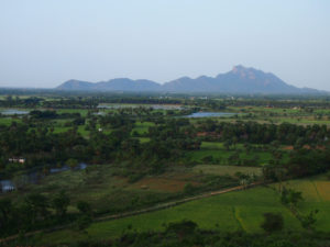 Landskapet domineras av jordbruk. Herdarna från Peikulam kommer till detta område för sommarbete i utbyte av en liten summa pengar från bönder för att gödsla deras åkrar.Foto; Patrick Wennström
