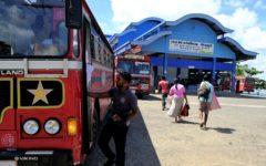 Slutdestinationen, busstationen i Batticaloa. Foto Johan Mikaelsson.