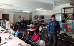 Bilden är från Indian Institute of Cerebral Palsy och deras yrkesutbildning för unga vuxna. Foto Henrik Schedin.