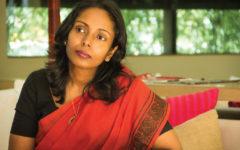 Ramya Chamalie Jirasinghes författarskap inleddes med Rhythm of the Sea (2007), en rapport från ett av de distrikt i hennes hemland Sri Lanka som drabbades av den förödande tsunamin. 2010 hon sin första diktsamling utgiven. There's an Island in the Bone som vann ett statligt litteraturpris..
