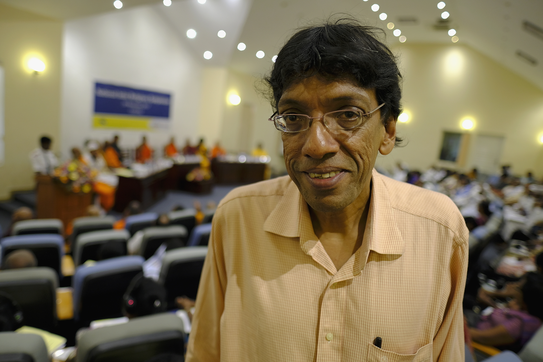 Doktor Jehan Perera leder organisationen National Peace Council i Sri Lanka.