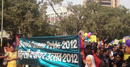 Bilden är från Delhi Pride Walk 2012. Foto; Julia Wiræus