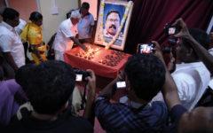 """Inte bara journalister uppmärksammade årsdagen av mordet på Dharmeratnam """"Taraki"""" Sivaram och protesterade samtidigt mot den totala straffriheten för journalistmord. Foto: Johan Mikaelsson"""
