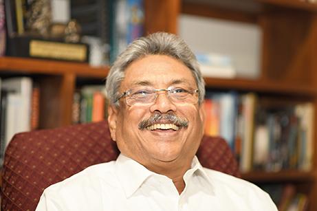 Gotabaya Rajapaksa, Sri Lankas nuvarande president. Bilden är tagen vid artikelförfattarens intervju med Rajapaksa i maj 2018. Foto: Johan Mikaelsson