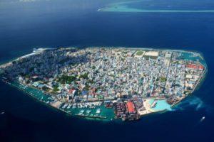 Maldivernas huvudstad Male.