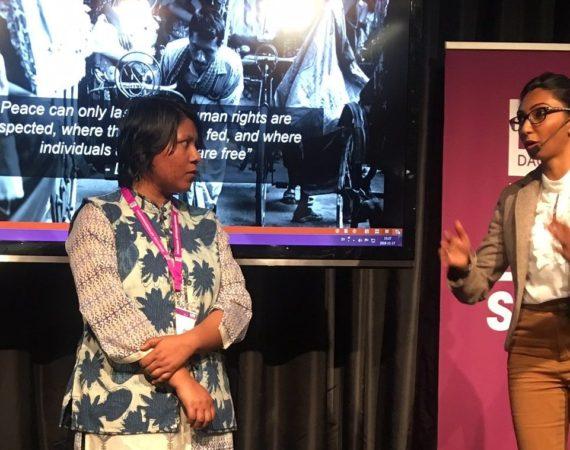 Hindu Forum Rights Sweden är en del av Hindu Forum Rights Europe som verkar för religiösa minoriteters rättigheter i Bangladesh och Pakistan.Sydasiens Redaktör i samtal med Radjni Gowri och Chaity Rahman.Foto: Beat Lindberg
