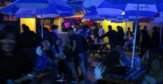 På nattklubben Vivacity i Thimphu , Bhutan. Foto; Alf Persson