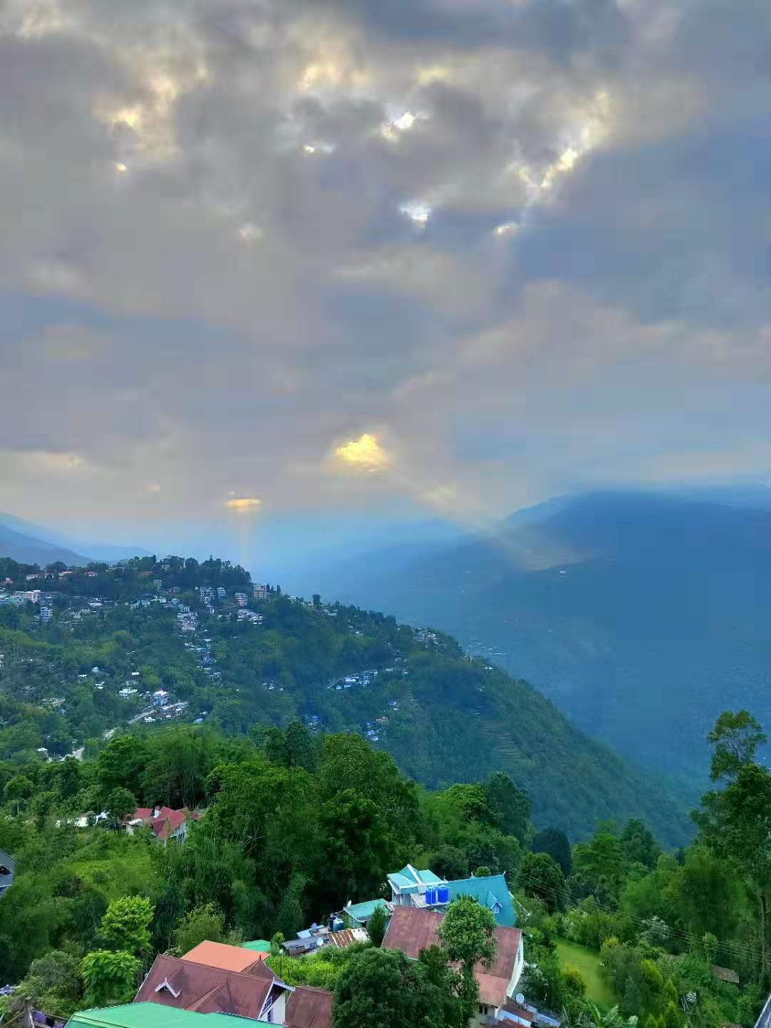 Kalimpong stretching out to the west -- Sonam Lama