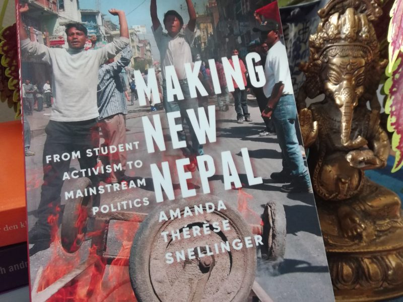 I boken Making New Nepal beskriver antropologen Amanda Thérése Snellinger studentkårernas roll i Nepals politik.