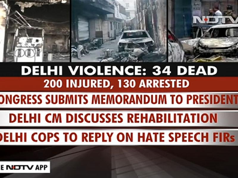 Dödligt våld i Delhi