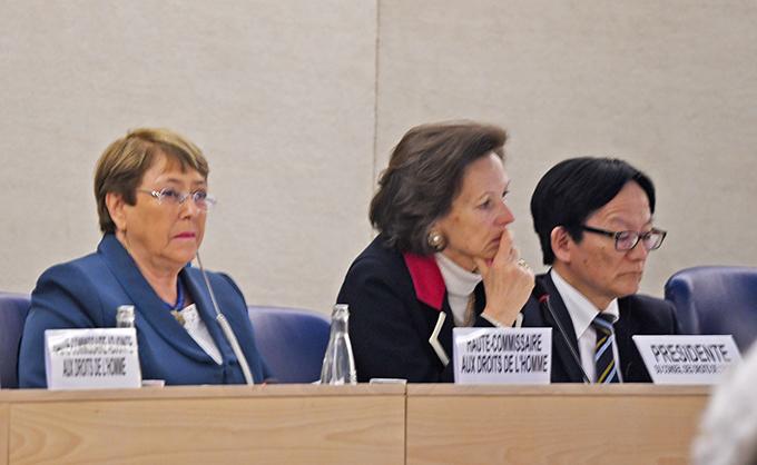 Michelle Bachelet, högkommissarie för mänskliga rättigheter