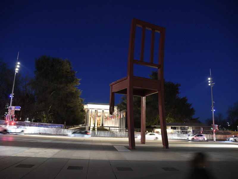 """Broken chair"" UN Geneva 2020"