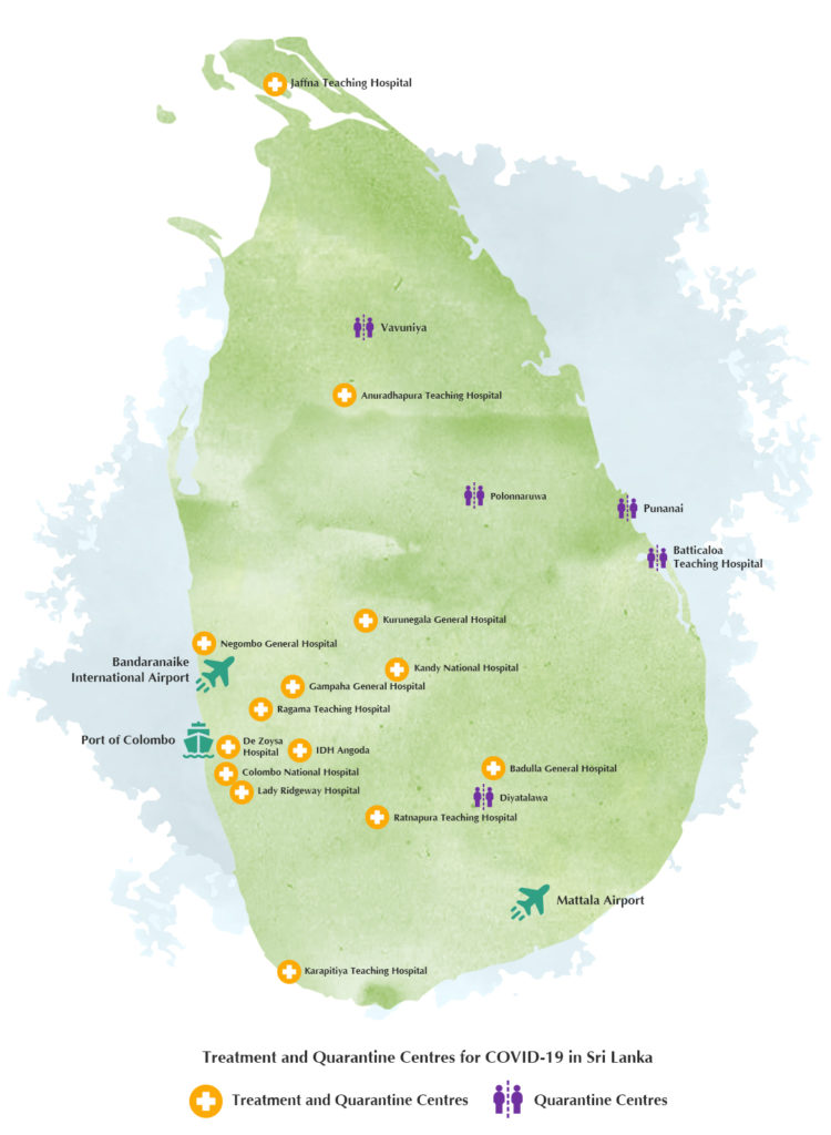 Sri Lanka covid-19-info-map