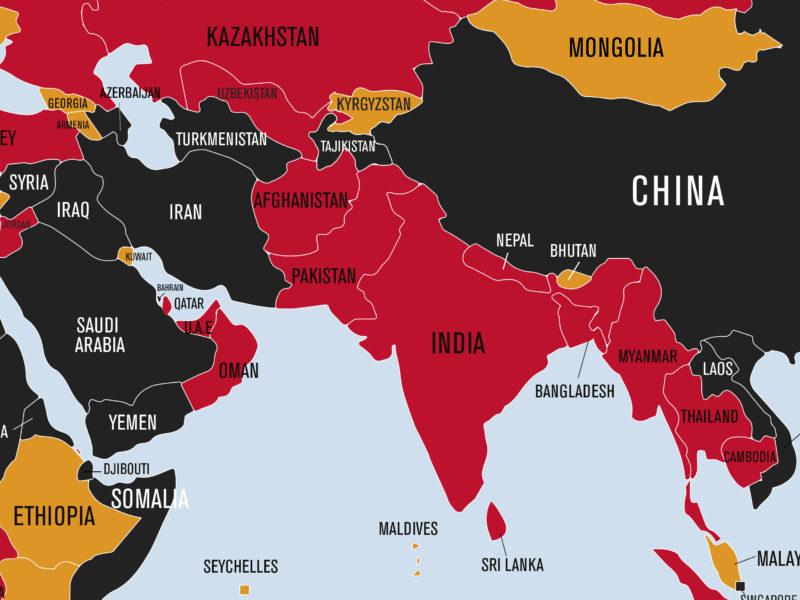 Regionen Sydasien