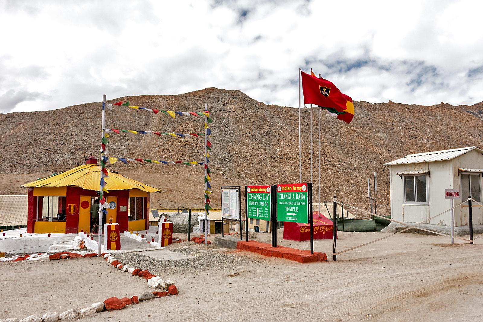 Indisk militärbas i Leh, Ladakh