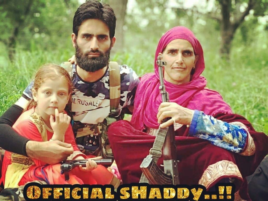 Separatist i Kashmir med sin familj.