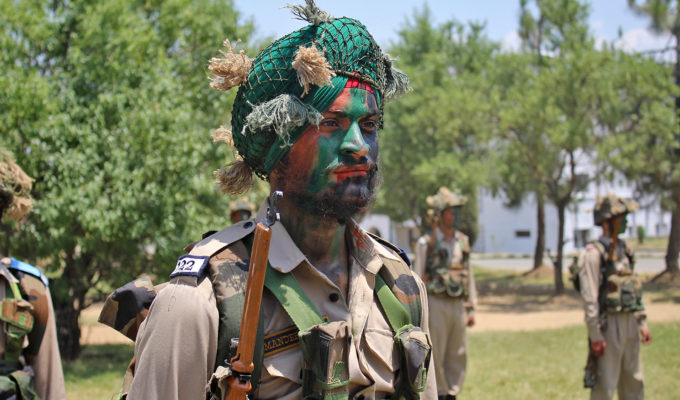 Indisk soldat i Ladakh